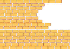 Unfinished orange brick wall Stock Photos