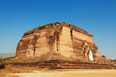 Unfinished pagoda in Mingun, Myanmar. Mingun Pahtodawgyi is a monumental uncompleted stupa began by King Bodawpaya in 1790. It was not completed, due to an royalty free stock photo