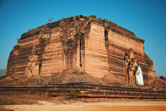 Unfinished pagoda in Mingun, Myanmar. Mingun Pahtodawgyi is a monumental uncompleted stupa began by King Bodawpaya in 1790. It was not completed, due to an royalty free stock images