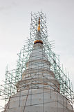 Unfinished pagoda. Unfinished white pagoda in thailand temple Royalty Free Stock Photos