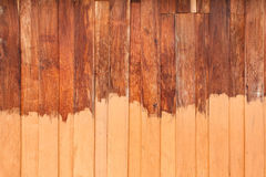 Unfinished paint wooden planks, wood background Stock Photo
