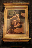 Unfinished painting of St. Jerome in the Wilderness, (c. 1480), stock photography
