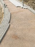 Unfinished pavement path Royalty Free Stock Photography