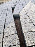 Unfinished pavement path stock image