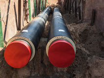 Unfinished pipeline Stock Photography