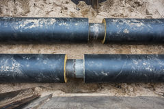 Unfinished pipeline Stock Photos
