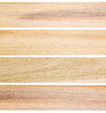 Unfinished poplar wood planks Stock Photos