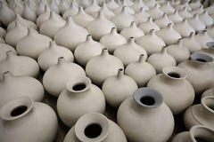 Unfinished Porcelain Pottery Stock Photography