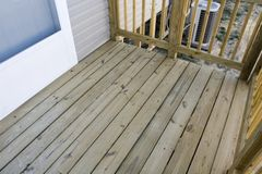Unfinished Porch Royalty Free Stock Photos