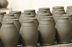 Unfinished pots Stock Photo