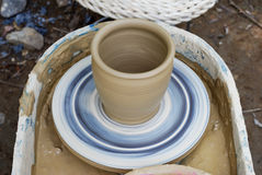 Unfinished pottery products. Royalty Free Stock Photography