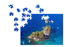 Unfinished puzzle Stock Photos