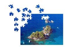 Unfinished puzzle Stock Photos