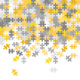 Unfinished puzzle background Royalty Free Stock Image