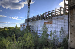 Unfinished reactors 5&6 building (HDR) Royalty Free Stock Image