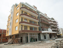 Unfinished residential building in Pomorie in Bulgaria Stock Photography