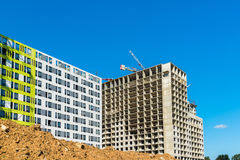 Unfinished residential buildings in Moscow, Russia Royalty Free Stock Photography
