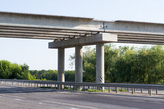 Unfinished road bridge Stock Images