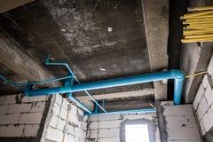 Unfinished sanitation construction Stock Photo