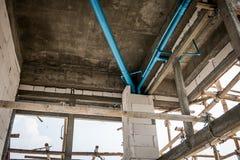 Unfinished sanitation construction Stock Image