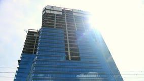 Unfinished skyscraper stock video