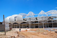 Unfinished soccer stadium Royalty Free Stock Images