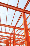 Unfinished steel structure buildings in a factory Royalty Free Stock Photography