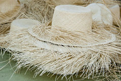 Unfinished Straw Hats Stock Photography