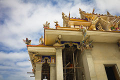 Unfinished Thai temple. Unfinished Thai temple, Pariwart temple, Bangkok, Thailand Stock Image