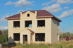 Unfinished two-storeyed country house Stock Photo