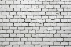Unfinished White Brick Wall Royalty Free Stock Image