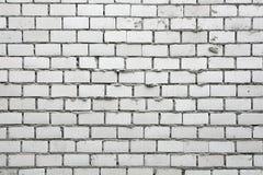 Unfinished White Brick Wall. Background Royalty Free Stock Image