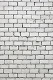 Unfinished White Brick Wall Stock Photo