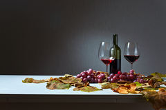 Unfinished wine Stock Images