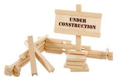 Unfinished wooden construction Royalty Free Stock Photos