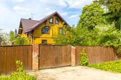 Unfinished wooden country house in Russia Royalty Free Stock Image