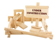 Unfinished wooden house Stock Image