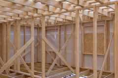 Unfinished wooden rail of frame house. Unfinished wooden rail of a frame house stock images