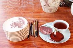 Unfired陶瓷和釉 免版税库存图片
