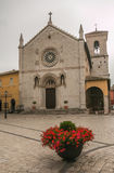 The unfit cathedral of Norcia Stock Photo