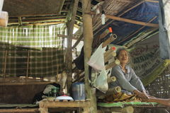 Unfit home. Home is unfit to live inhabited old woman with unhealty condition on banyudono, boyolali, central java, indonesia Stock Photo