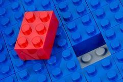 Unfitting building block Stock Photography
