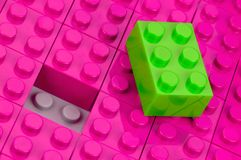Unfitting building block Royalty Free Stock Photography