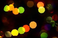 Unfocused abstrakt mörk festlig bakgrund med bokeh Vinter Ch Arkivbilder