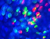 Unfocused błękitny tło abstrakcjonistyczna świetlistość fotografia royalty free