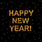 Unfocused Happy New Year Royalty Free Stock Photo