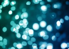 Unfocused Lichterkette des Blaus oder des Aqua gut als Hintergrund Stockbilder