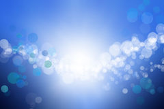 Unfocused lights background. An abstract unfocused lights background with blue color Stock Photos