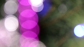 Unfocused lights background. Abstract motion background with unfocused lights stock video footage