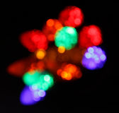 Unfocused Multi-colored Christmas Lights Stock Image